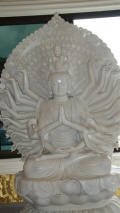 White Buddha in Temple at Viharasien