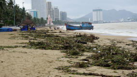 Fishing Boat Aground on Nha Trang Beach